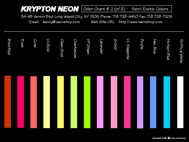 neon color page